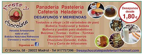 Fresa y Chocolate. Panadería Pastelería Cafetería Heldería.