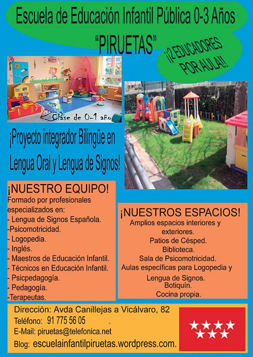 Piruetas Escuela de Educación Infantil Pública 0-3 años.