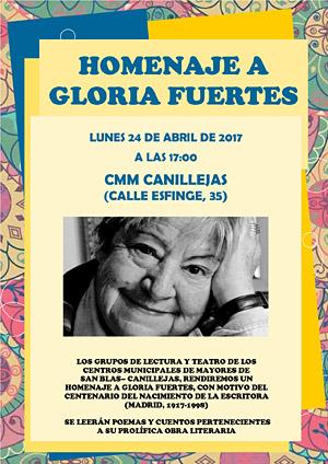 Homenaje a Gloria Fuertes 24 abril 2017